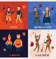 halloween kids design concept vector image vector image