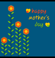 Happy mothers day greeting card design vector image