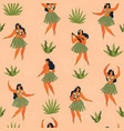 hawaii dance seamless pattern vector image