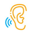 hears sound icon outline vector image vector image