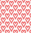 Heart shapes made by triangles seamless pattern - vector image