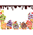 Ice cream frame vector image