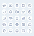 icons for web design in linear style vector image vector image