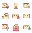 Icons Set of icons for messages Design vector image vector image