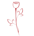 line rose vector image