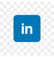 linkedin social media icon design template vector image vector image