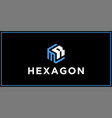 mr hexagon logo design inspiration vector image vector image