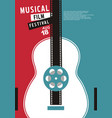 musical films festival vector image vector image