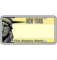 new york liberty state vector image vector image