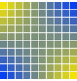 panels pixel art squares 10 x 10 blue and yellow vector image vector image