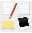 paper and pencil vector image vector image