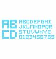 plastic construction blocks alphabet vector image vector image
