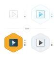 play icon 4 design vector image vector image