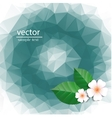 polygonal pattern with flowers vector image vector image