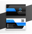 professional blue business card modern template vector image