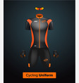 Realistic cycling uniform template black vector image