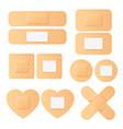 realistic plaster adhesive tape bandage set vector image