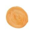 Realistic yellow spot of watercolor paint vector image vector image
