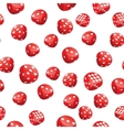 Red playing dices seamless pattern vector image