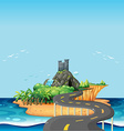 Road and island vector image vector image