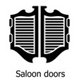 saloon door icon simple black style vector image vector image