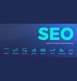 search engine optimization seo horizontal banner vector image vector image