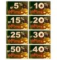 Set 5 to 50 percent discount Halloween Sales vector image vector image