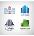 set building logos company icons vector image vector image