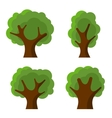 Set of Abstract Flat Style Trees vector image vector image