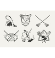 Set of cleaning emblems badges labels and vector image vector image