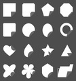 Set of corner lebel gray color icons vector image vector image