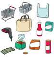 set of shopping icon vector image vector image