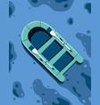 ship floating in ocean vector image vector image