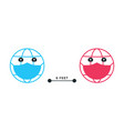 social distancing emoji earth keep 6 feets vector image vector image