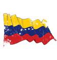 textured grunge waving flag venezuela vector image vector image