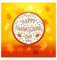 Thanksgiving day emblem vector image vector image