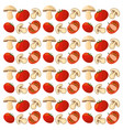 tomato mushroom vegetables fresh seamless pattern vector image
