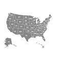 usa map infographic us map with states vector image