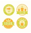 Vegan food badges vector image vector image