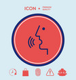 Voice control person talking - icon