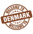 welcome to denmark vector image vector image