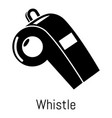 whistle icon simple black style vector image vector image