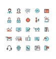 Customer service call center flat icons vector image