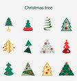 different christmas tree vector image