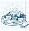 winter doodles vector image
