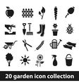 20 garden icon collection vector image vector image