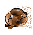 abstract coffee vector image vector image