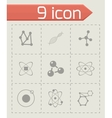 atom icon set vector image