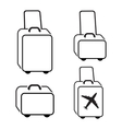 Baggage icon set Hand luggage for traveling vector image vector image