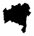 bahia state silhouette map vector image vector image